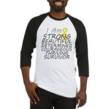 Ewings Sarcoma Strong Survivor Baseball Jersey