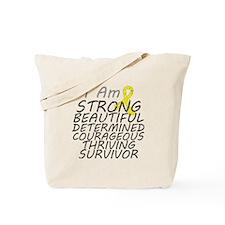 Ewings Sarcoma Strong Survivor Tote Bag