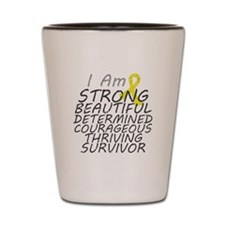 Ewings Sarcoma Strong Survivor Shot Glass