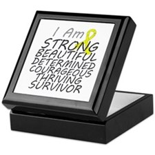 Ewings Sarcoma Strong Survivor Keepsake Box
