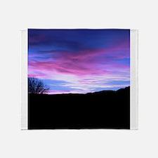 Blue Sunset Throw Blanket