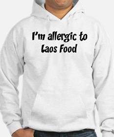Allergic to Laos Food Hoodie
