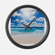 Sunny Beach Large Wall Clock
