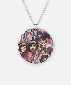 Kellic Collage Necklace Circle Charm