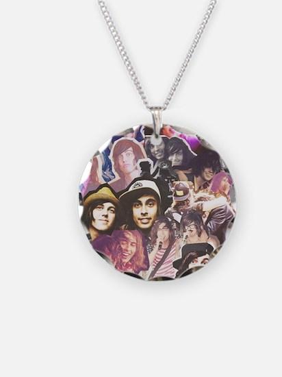 Kellic Collage Necklace Circle Charm