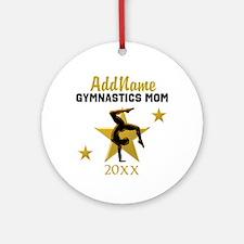 SUPER GYMNAST MOM Ornament (Round)