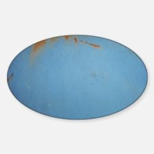 Blue Rusty Old Vintage truck Sticker (Oval)