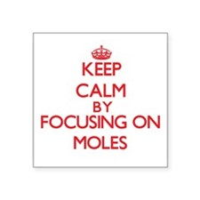 Keep calm by focusing on Moles Sticker