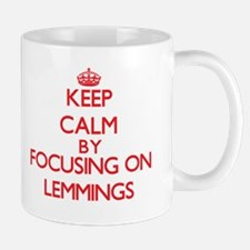 Keep calm by focusing on Lemmings Mugs