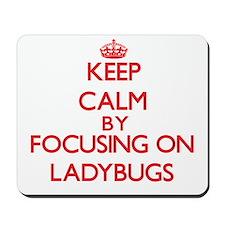 Keep calm by focusing on Ladybugs Mousepad