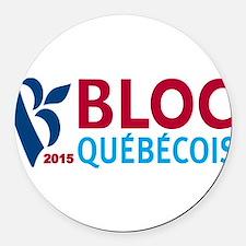 Bloc Quebecois 2015 Round Car Magnet