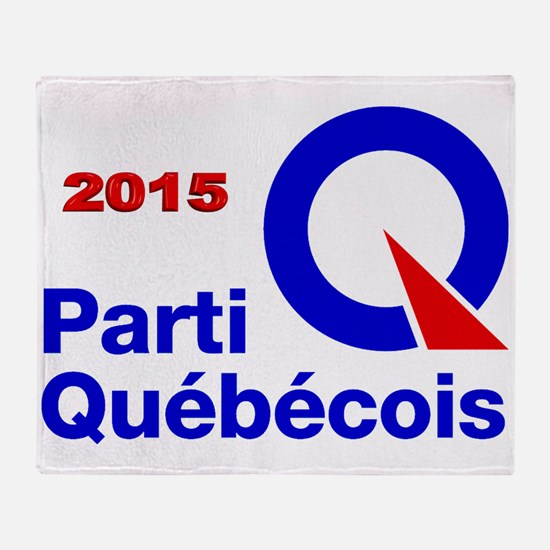Parti Quebecois 2015 Throw Blanket