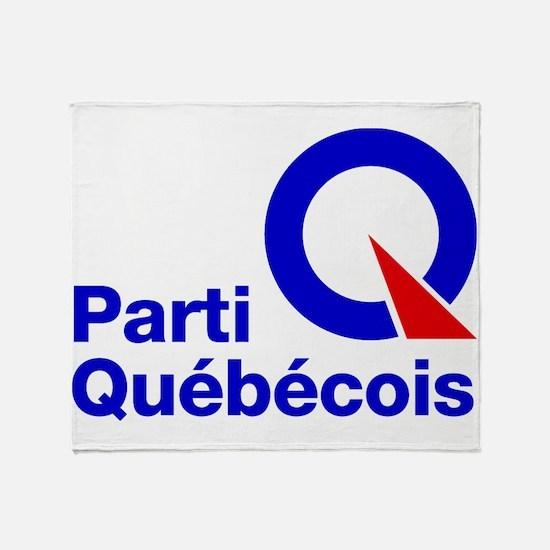 Parti Quebecois Throw Blanket