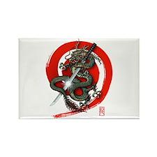 Dragon Katana4 Rectangle Magnet