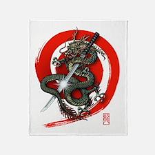 Dragon Katana4 Throw Blanket