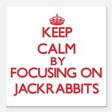 Keep calm by focusing on Jackrabbits Square Car Ma