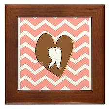 dental chevron 2 Framed Tile