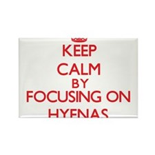 Keep calm by focusing on Hyenas Magnets
