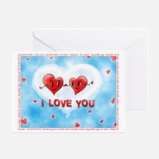 Two Hearts I Love You Foreign Langua Greeting Card