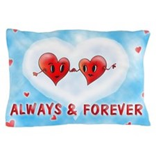 Always and Forever Two Hearts Pillow Case