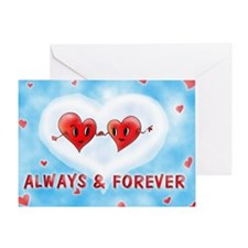 Always and Forever Two Hearts Greeting Card