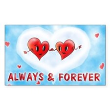 Always and Forever Two Hearts Decal