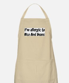 Allergic to Rice And Beans BBQ Apron