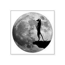 """meerkat erdmännchen mond mo Square Sticker 3"""" x 3"""""""