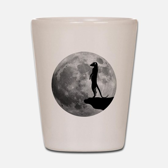 meerkat erdmännchen mond moon Shot Glass