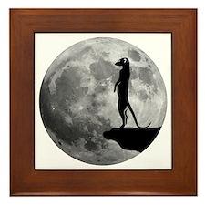 meerkat erdmännchen mond moon Framed Tile