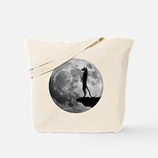 meerkat erdmännchen mond moon Tote Bag