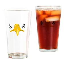 bald eagle adler kopf head Drinking Glass