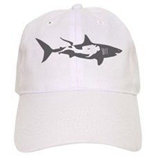 shark scuba diver hai taucher diving Baseball Cap