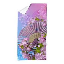 Floral Fan Beach Towel