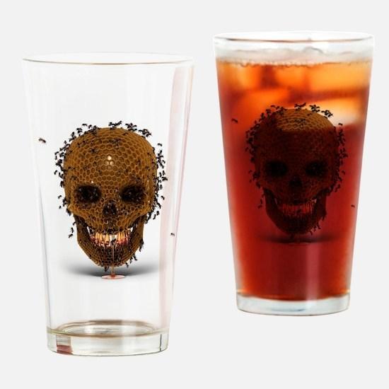 Skull Hive Drinking Glass