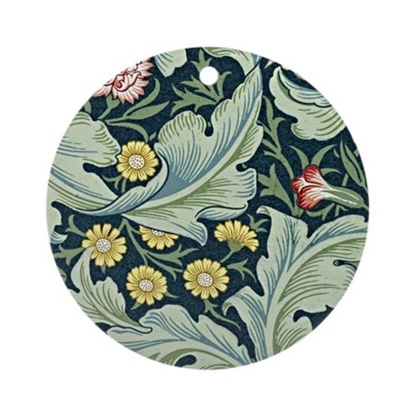 William Morris vintage design, Leic Round Ornament