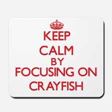 Keep calm by focusing on Crayfish Mousepad