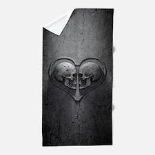 Gothic Skull Heart Beach Towel