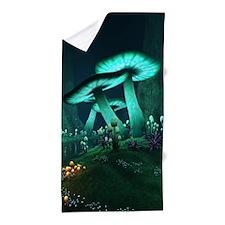 Luminous Mushrooms Beach Towel
