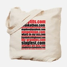 Porno Domain Names I Tote Bag