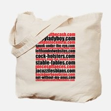Porno Domain Names II Tote Bag
