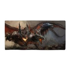 Gothic Triple-Head Dragon Beach Towel