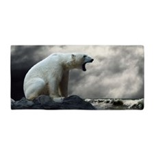 Polar Bear Roaring Beach Towel