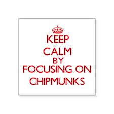 Keep calm by focusing on Chipmunks Sticker