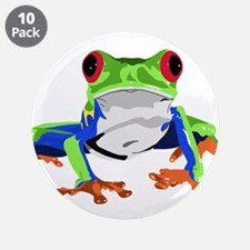 """Frog 3.5"""" Button (10 pack)"""