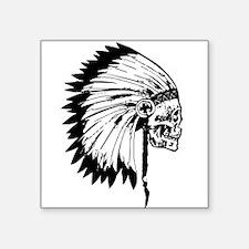 Native American Skull Sticker
