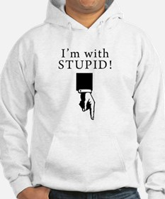 Im With Stupid - Pointing Down Hoodie