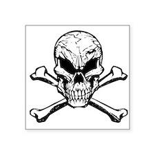 Evil Skull And Crossbones Sticker