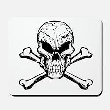 Evil Skull And Crossbones Mousepad