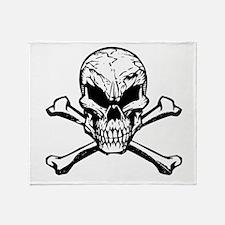 Evil Skull And Crossbones Throw Blanket